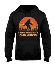 Social Distancing Champion Funny Bigfoot Toilet Hooded Sweatshirt front
