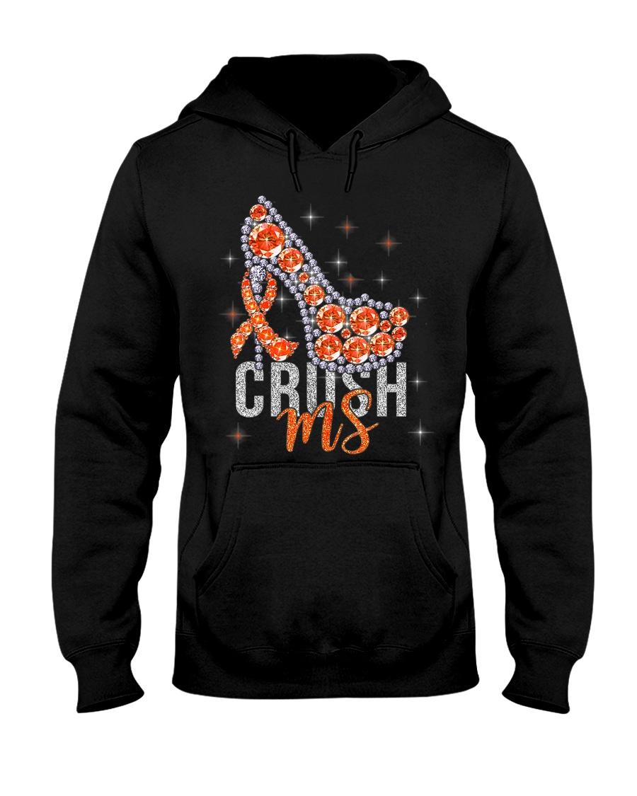 High Heels Crush Ms Multiple Sclerosis Awareness Hooded Sweatshirt