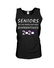 Class Of 2020 Graduation Senior Funny Quarantine Unisex Tank thumbnail