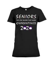 Class Of 2020 Graduation Senior Funny Quarantine Premium Fit Ladies Tee thumbnail