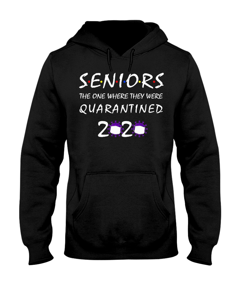 Class Of 2020 Graduation Senior Funny Quarantine Hooded Sweatshirt