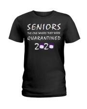 Class Of 2020 Graduation Senior Funny Quarantine Ladies T-Shirt thumbnail