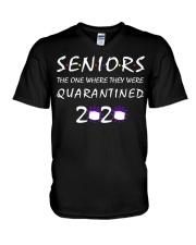 Class Of 2020 Graduation Senior Funny Quarantine V-Neck T-Shirt thumbnail