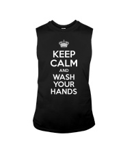 Keep Calm And Wash Your Hands - Flu Cold T-Shirt Sleeveless Tee tile