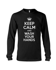 Keep Calm And Wash Your Hands - Flu Cold T-Shirt Long Sleeve Tee tile