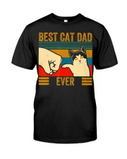 Vintage Best Cat Dad Ever Men Bump Fit Fathers Classic T-Shirt thumbnail