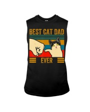 Vintage Best Cat Dad Ever Men Bump Fit Fathers Sleeveless Tee thumbnail