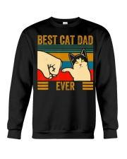 Vintage Best Cat Dad Ever Men Bump Fit Fathers Crewneck Sweatshirt thumbnail