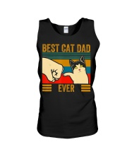 Vintage Best Cat Dad Ever Men Bump Fit Fathers Unisex Tank thumbnail