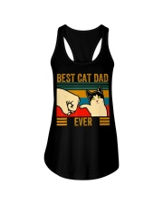 Vintage Best Cat Dad Ever Men Bump Fit Fathers Ladies Flowy Tank thumbnail