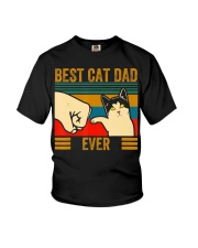 Vintage Best Cat Dad Ever Men Bump Fit Fathers Youth T-Shirt thumbnail
