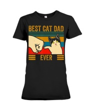 Vintage Best Cat Dad Ever Men Bump Fit Fathers Premium Fit Ladies Tee thumbnail