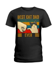 Vintage Best Cat Dad Ever Men Bump Fit Fathers Ladies T-Shirt thumbnail