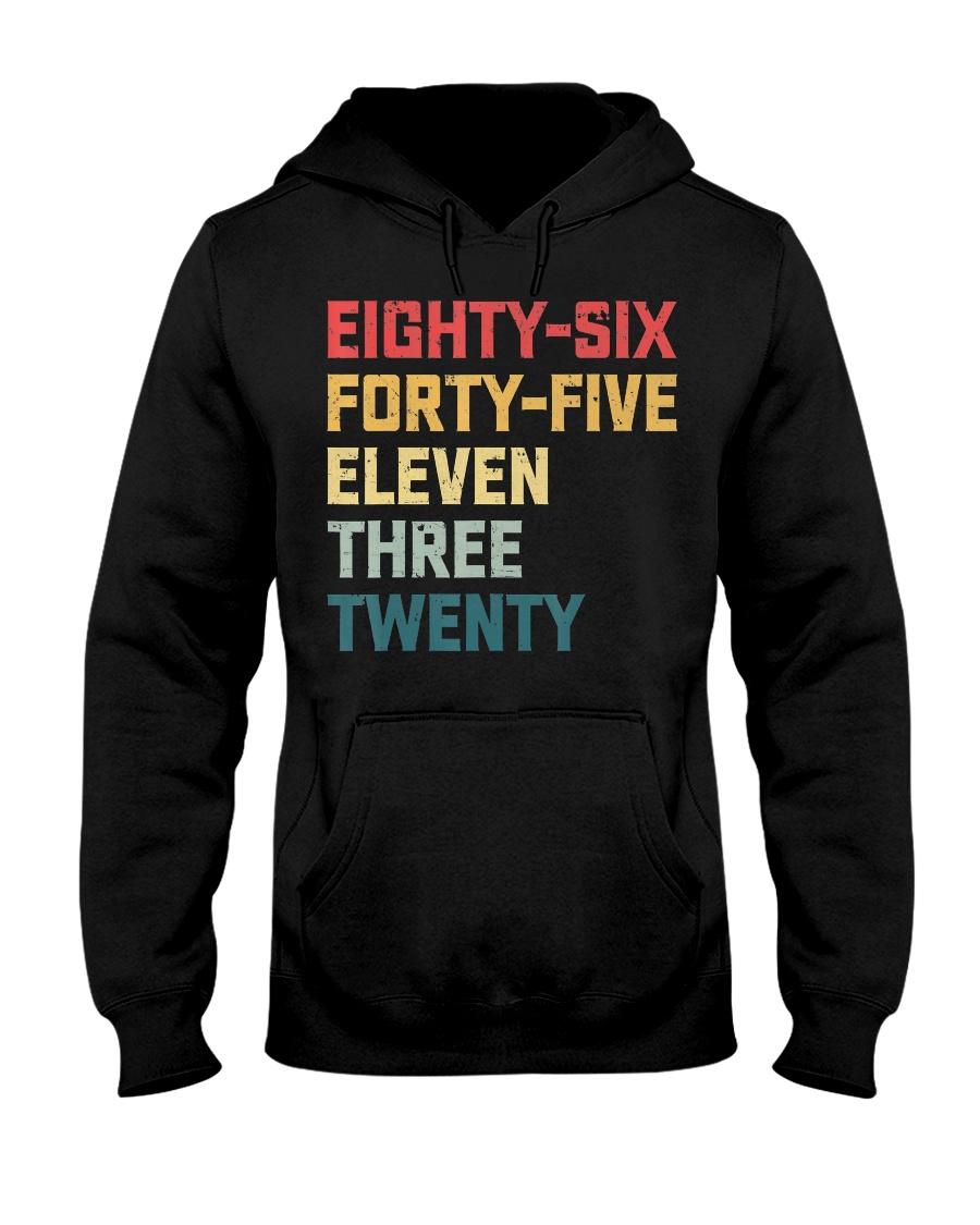 Eighty-Six Forty-Five Eleven Three Twenty Vintage Hooded Sweatshirt