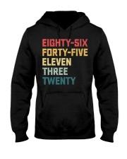 Eighty-Six Forty-Five Eleven Three Twenty Vintage Hooded Sweatshirt front
