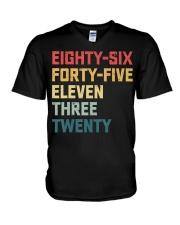 Eighty-Six Forty-Five Eleven Three Twenty Vintage V-Neck T-Shirt thumbnail