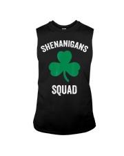Shenanigans Squad Funny St Patricks Day Matching Sleeveless Tee thumbnail