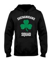 Shenanigans Squad Funny St Patricks Day Matching Hooded Sweatshirt front