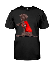 Chocolate Lab Labrador Mom Tattoo Funny Mama Premium Fit Mens Tee thumbnail