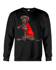 Chocolate Lab Labrador Mom Tattoo Funny Mama Crewneck Sweatshirt thumbnail