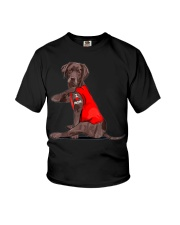 Chocolate Lab Labrador Mom Tattoo Funny Mama Youth T-Shirt thumbnail