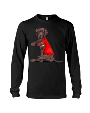 Chocolate Lab Labrador Mom Tattoo Funny Mama Long Sleeve Tee thumbnail