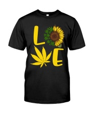 Love Weed Sunflower Love Cannabis Pullover Hoodie Premium Fit Mens Tee thumbnail