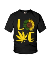 Love Weed Sunflower Love Cannabis Pullover Hoodie Youth T-Shirt thumbnail
