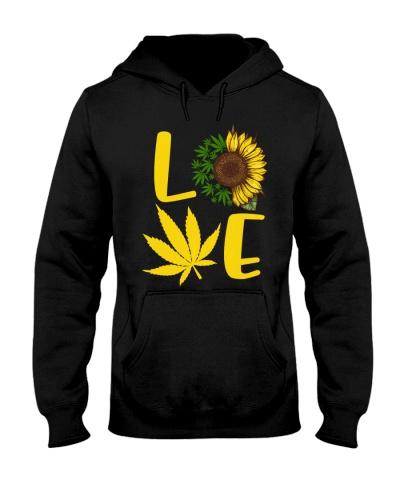 Love Weed Sunflower Love Cannabis Pullover Hoodie