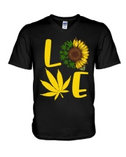 Love Weed Sunflower Love Cannabis Pullover Hoodie V-Neck T-Shirt thumbnail