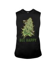 Bee Happy Cannabis Weed Marijuana Funny 420 Day Sleeveless Tee thumbnail