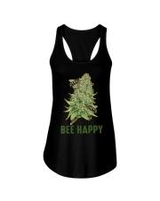 Bee Happy Cannabis Weed Marijuana Funny 420 Day Ladies Flowy Tank thumbnail