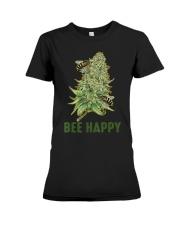Bee Happy Cannabis Weed Marijuana Funny 420 Day Premium Fit Ladies Tee thumbnail