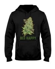 Bee Happy Cannabis Weed Marijuana Funny 420 Day Hooded Sweatshirt front