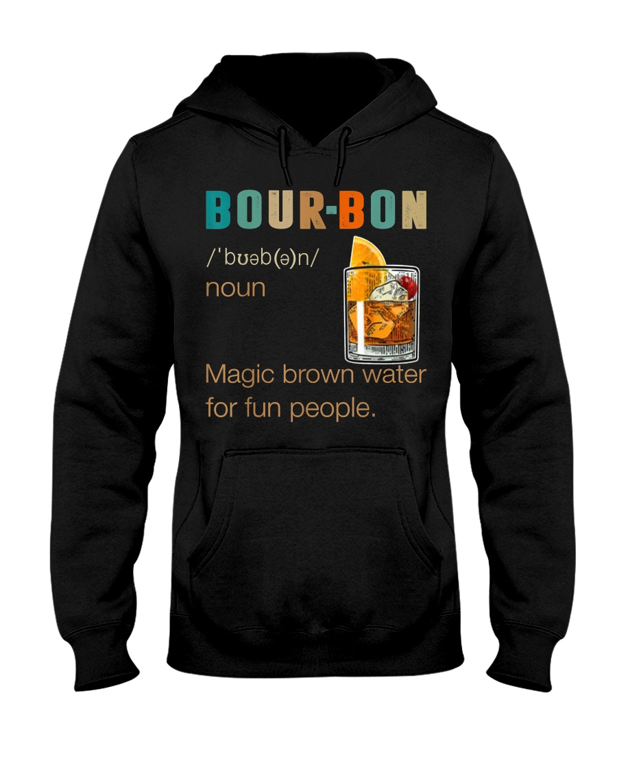 Bourbon Definition Magic Brown Water Vintage Hooded Sweatshirt