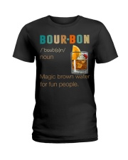Bourbon Definition Magic Brown Water Vintage Ladies T-Shirt thumbnail