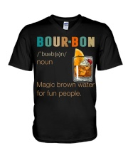 Bourbon Definition Magic Brown Water Vintage V-Neck T-Shirt thumbnail