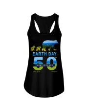 Earth Day 50th Anniversary 2020 Bear T-Shirt Ladies Flowy Tank tile