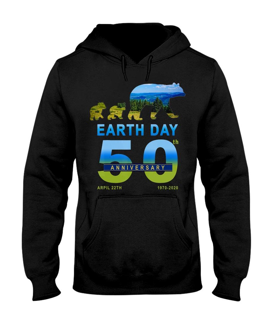 Earth Day 50th Anniversary 2020 Bear T-Shirt Hooded Sweatshirt