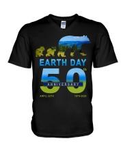 Earth Day 50th Anniversary 2020 Bear T-Shirt V-Neck T-Shirt thumbnail