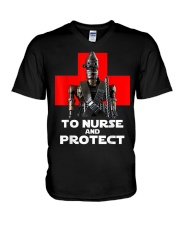 To Nurse and Protect T-Shirt V-Neck T-Shirt thumbnail