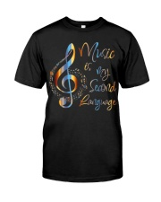 Music Is My Second Language T-Shirt Classic T-Shirt thumbnail