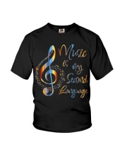 Music Is My Second Language T-Shirt Youth T-Shirt thumbnail
