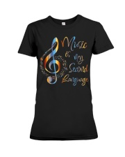 Music Is My Second Language T-Shirt Premium Fit Ladies Tee thumbnail