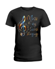 Music Is My Second Language T-Shirt Ladies T-Shirt thumbnail