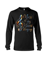 Music Is My Second Language T-Shirt Long Sleeve Tee thumbnail