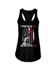 I Stand for the Flag and Kneel for the Cross Ladies Flowy Tank thumbnail