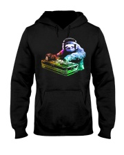 DJ Sloth by ROBOTFACE T-Shirt Hooded Sweatshirt front