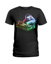 DJ Sloth by ROBOTFACE T-Shirt Ladies T-Shirt thumbnail