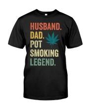 Weed Dad Shirt Stoner Gifts Husband T-Shirt  Classic T-Shirt thumbnail